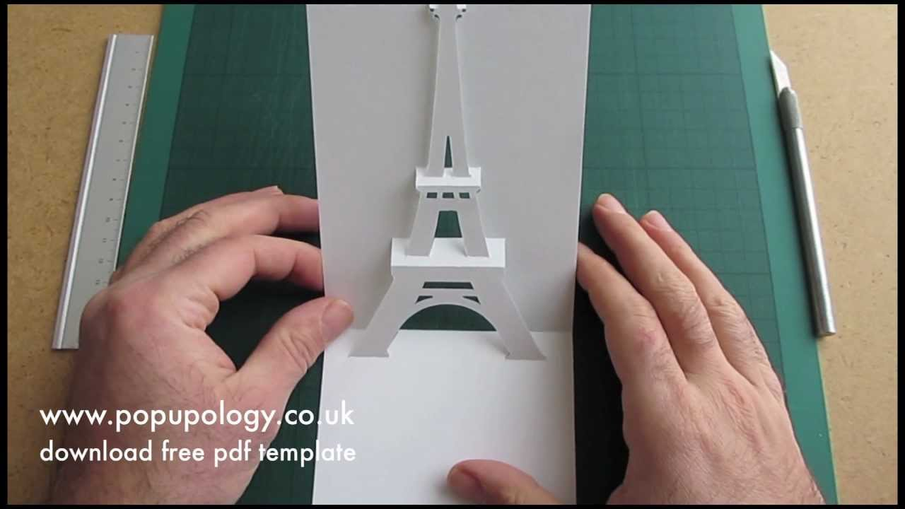 Pop Up Eiffel Tower Card Tutorial