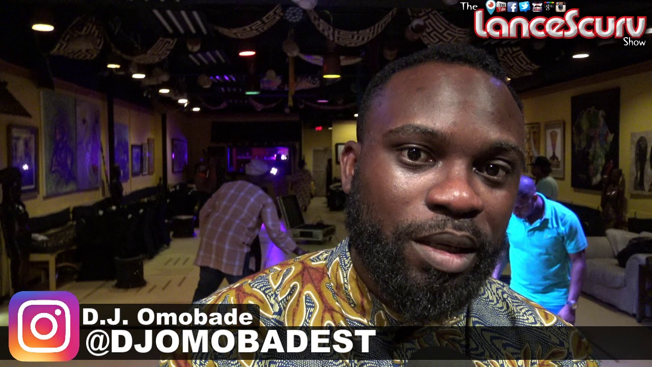 DJ Omobade Shares The Love After His Performance At Three Masks Inc! - The LanceScurv Show