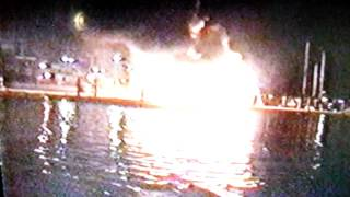 Sundowner Boat Fire - Marina Del Rey, California - Saturday Dec. 07, 1996