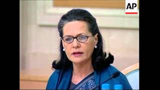 Sonia Gandhi gives speech on Russian-Indian relations