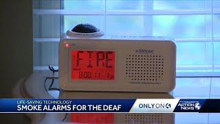 Smoke alarms for deaf and hearing-impaired save lives