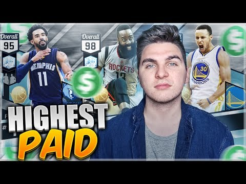 HIGHEST PAID PLAYERS AT EACH POSITION! NBA 2K17 SQUAD BUILDER