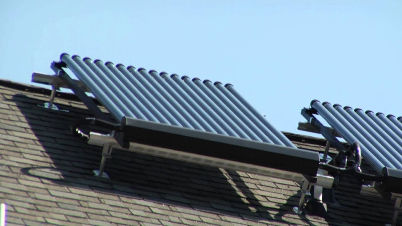 Solar Thermal Heating and Air Conditioning System - YouTube
