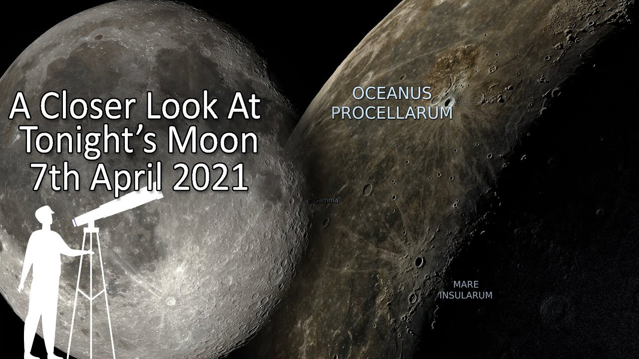 Tonight's Moon 7th April 2021 - What's new to view? A closer look at the moon.