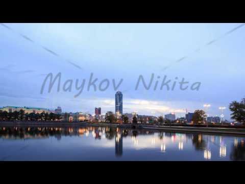 Sunrise on the waterfront. Ekaterinburg, Russia. Time Lapse. 4K