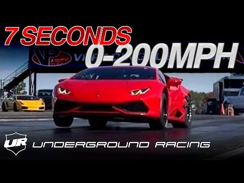 See Twin-Turbo Lamborghini Huracan Do 0 To 124 MPH In 7 Seconds