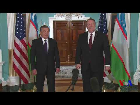 Mirziyoyev AQSh Davlat departamentida/Uzbekistan State Department