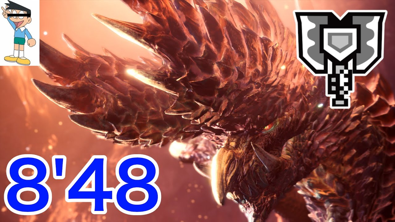 "【MHWI】アルバトリオン ソロ 8'48""61 宵の恒星 チャージアックス/Alatreon Charge Blade Solo"