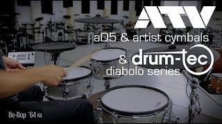 ATV aDrums aD5 setup with drum-tec diabolo electronic drums