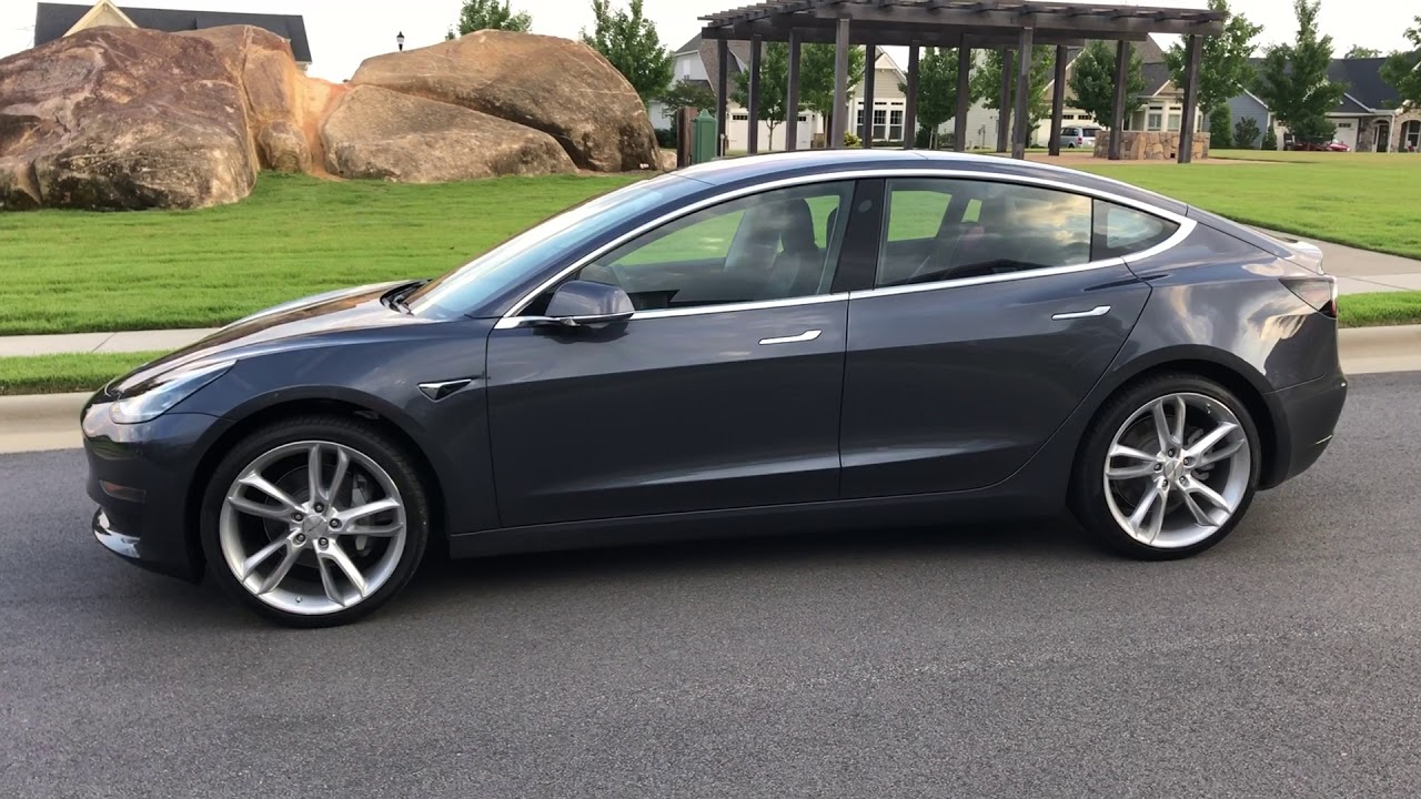 Midnight Silver Metallic Tesla Model 3 Custom 20 Wheels