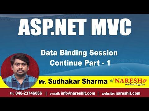 Data Binding Session Continue Part - 1| ASP.NET MVC Tutorial | By Mr.Sudhakar Sharma