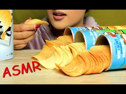 ASMR EATING PRINGLES CHIPS(EXTREME CRUNCHY EATING SOUNDS)MUKBANG:NO TALKING;ALINA ASMR