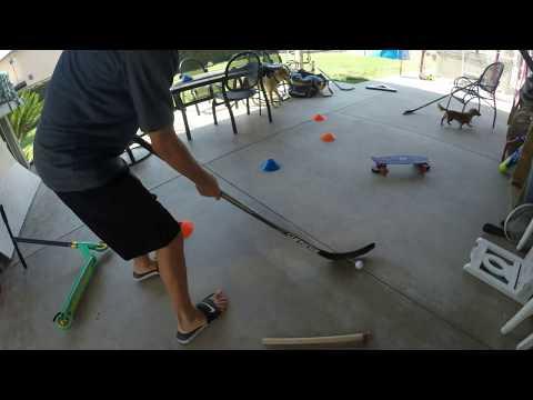 hockey puck practice