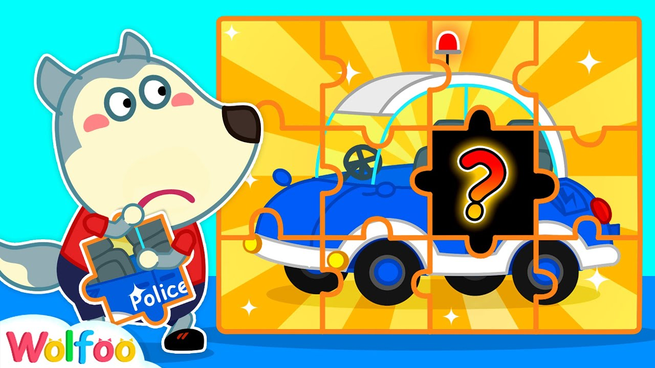 Wolfoo Assembles Playhouse and Ride on Car with Magic Puzzles | Wolfoo Channel Kids Cartoon