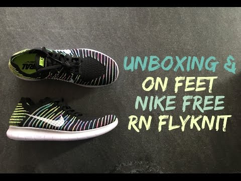 nike-free-rn-flyknit-'black/volt/blue'-|-unboxing-&-on-feet-|-fitness-shoes-|-2016-|-hd