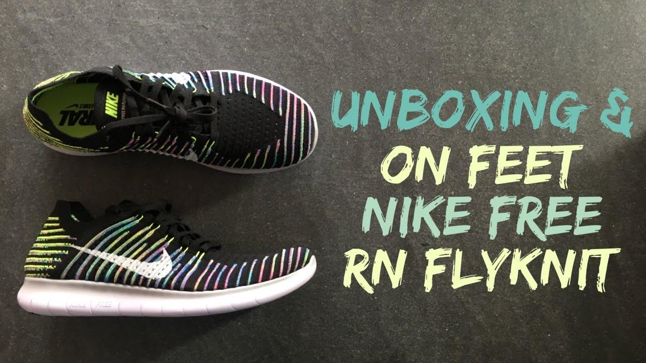 00372c54c3a1 Nike Free RN Flyknit  Black Volt Blue