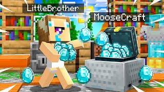 10 WAYS TO STEAL MY LITTLE BROTHER'S DIAMONDS in MINECRAFT!