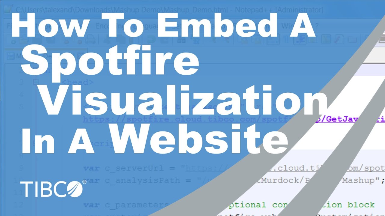 How To Embed A Spotfire Visualization In A Website