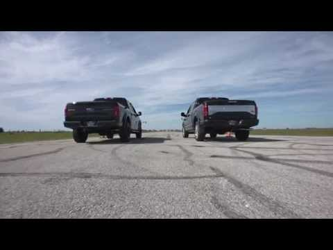 VelociRaptor 650 vs Stock 2015 Ford F-150 Truck Drag Race