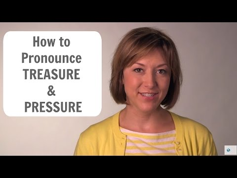 How to pronounce TREASURE /ˈtrɛʒɚ/ and PRESSURE /prɛʃɚ/ - American English Pronunciation Lesson