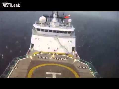 POV Crash.  Emergency Ditching Of Helicopter Into The Wet Whilst Making Crew Change Flight To Viking