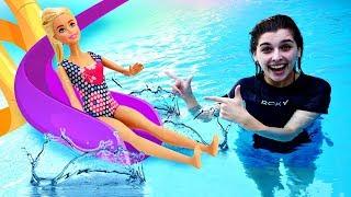 Барби и Кен в аквапарке! Супер горки с волнами - Развлечения для всей семьи