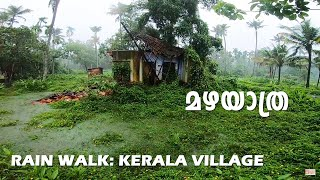 Rain Walk through Kerala Village