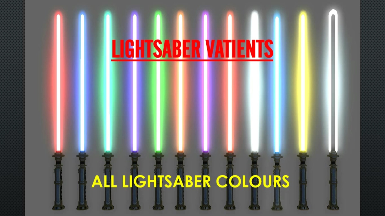 All Lightsaber Colours And Meanings Star Wars Youtube