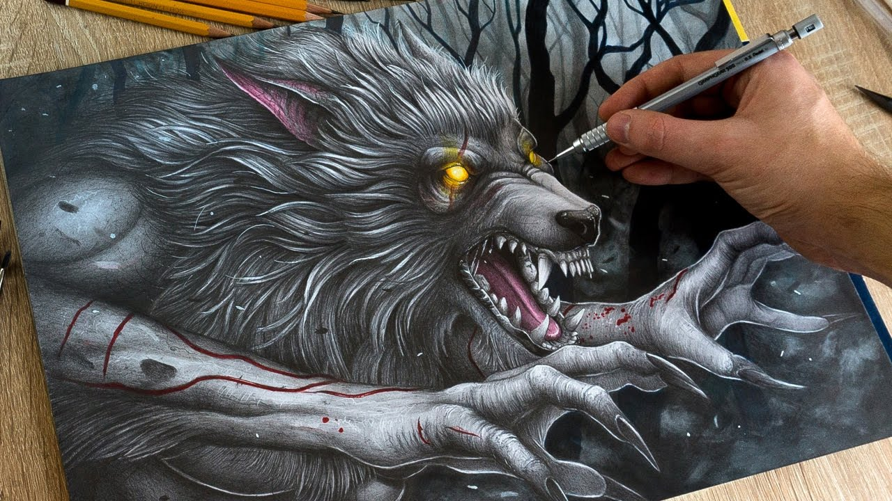 Drawing Werewolf - YouTube