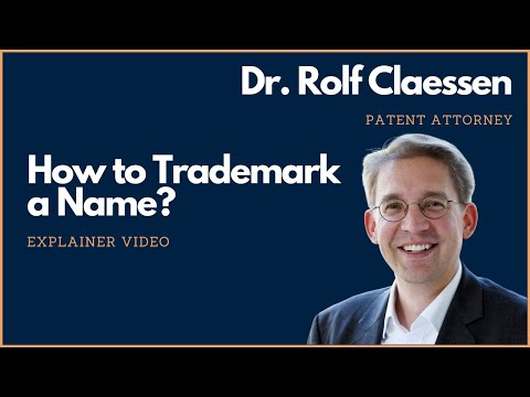 How to Trademark a Name or Business Name #trademark #rolfclaessen
