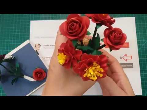 Mini Rosas - SUPER FÁCIL - Arquivo Grátis Studio, PDF e SVG
