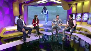 RJ Anmol with Hrithik Roshan Kathrina Kaif & Shoaib Akhtar on Star Sports