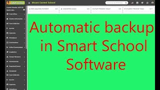How to get automatic backup of smart school software | What is cron job