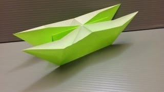 Daily Origami: 136 - Double Hulled Boat