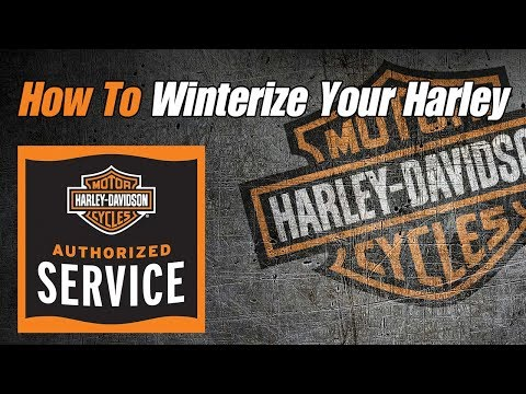 How To Winterize Harley Davidson Motorcycle