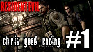 Resident Evil Remastered HD [Chris Good Ending] - Part 1 - BIOHAZARD!!!!