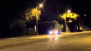 Audi R8 V10 Plus night drive