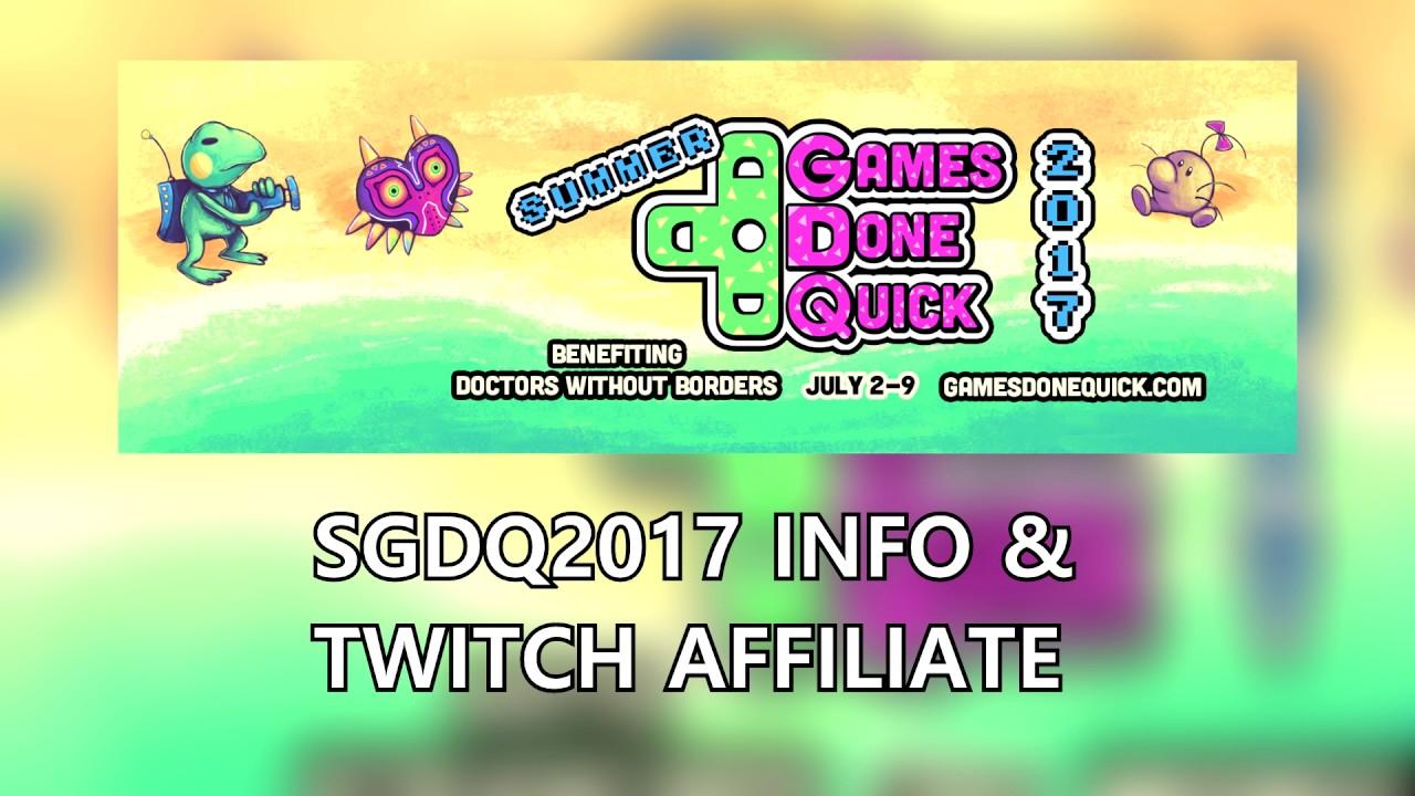 Edo Update Summer Games Done Quick 2017 Twitch Info