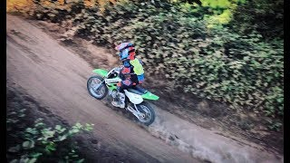 First Time Riding the KLX 110 on a Track