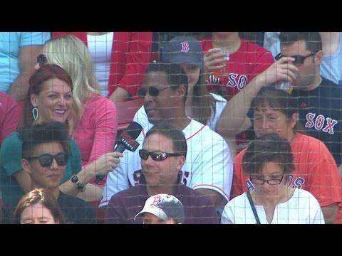 HOU@BOS: Springer's parents on George's Fenway debut