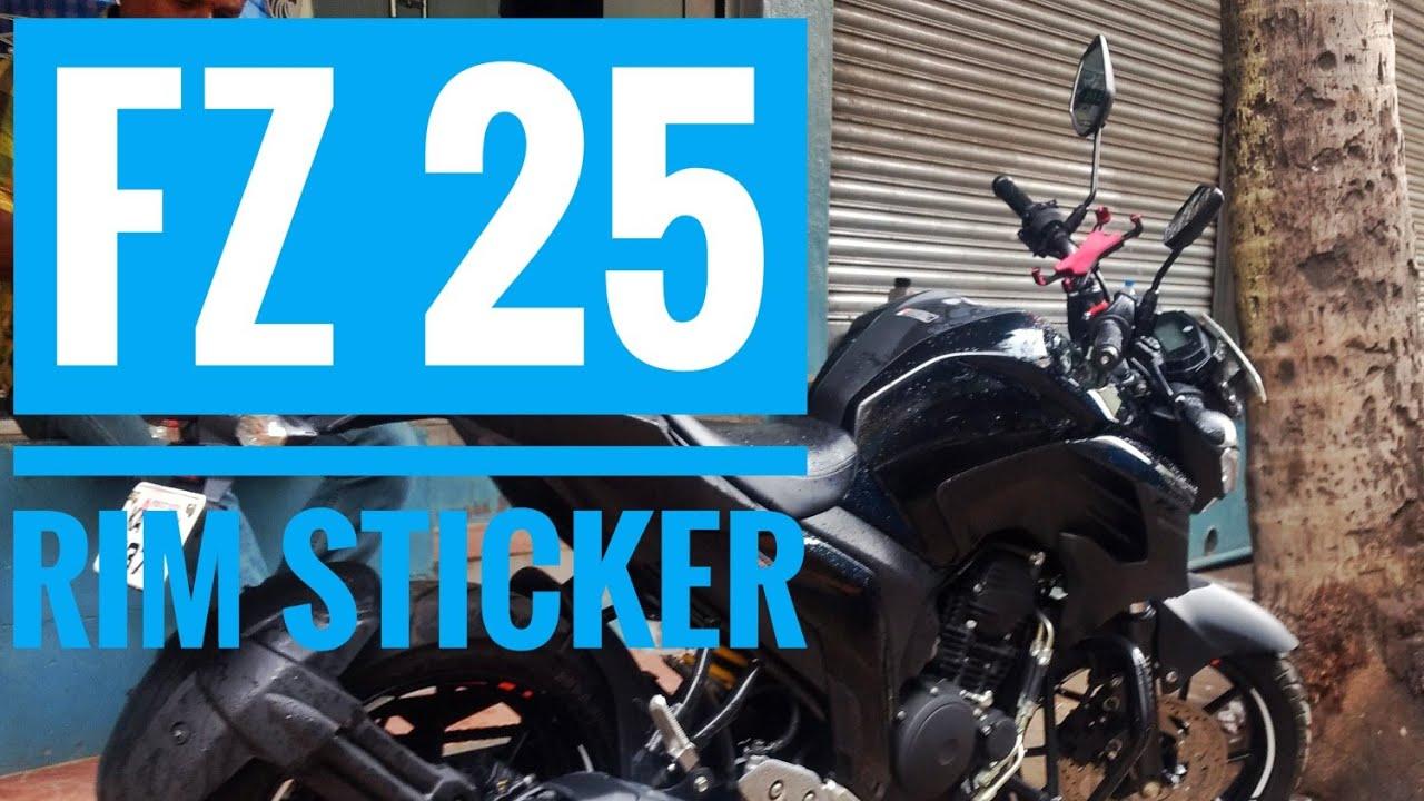 Fz 25 rim sticker first mod job