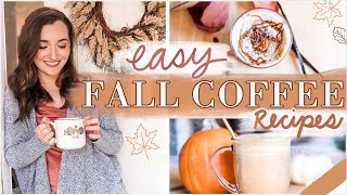 *NEW* FALL COFFEE RECIPES 2020 🍁 Easy + Healthy Dupes for your favorite drinks! VEGAN RECIPE OPTIONS