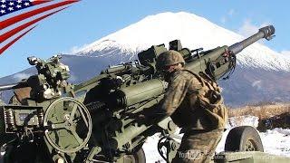 北富士演習場での155mm榴弾砲の実弾射撃(沖縄県道104号線越え実弾射撃訓練の分散・実施)