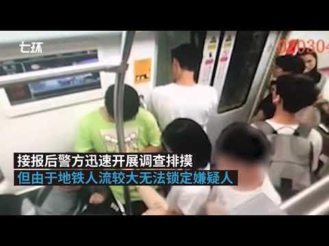 视频:男子乘地铁手偷摸臀部猥亵女子,被行拘
