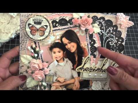 8x8 Cherished Scrapbook Layout Tutorial