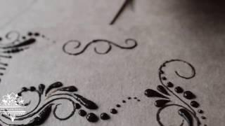 4 day henna tutorial ( Как рисовать капли с лианами мехенди на руке )