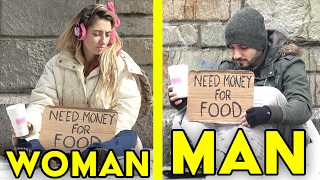 GUYS vs GIRLS Homeless Experiment | Who will you help? streaming