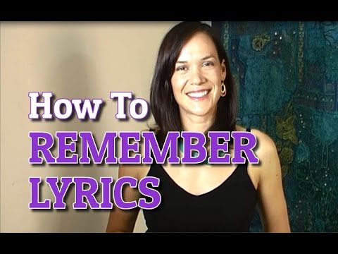 How To Remember Lyrics... And Get Them To Stick!