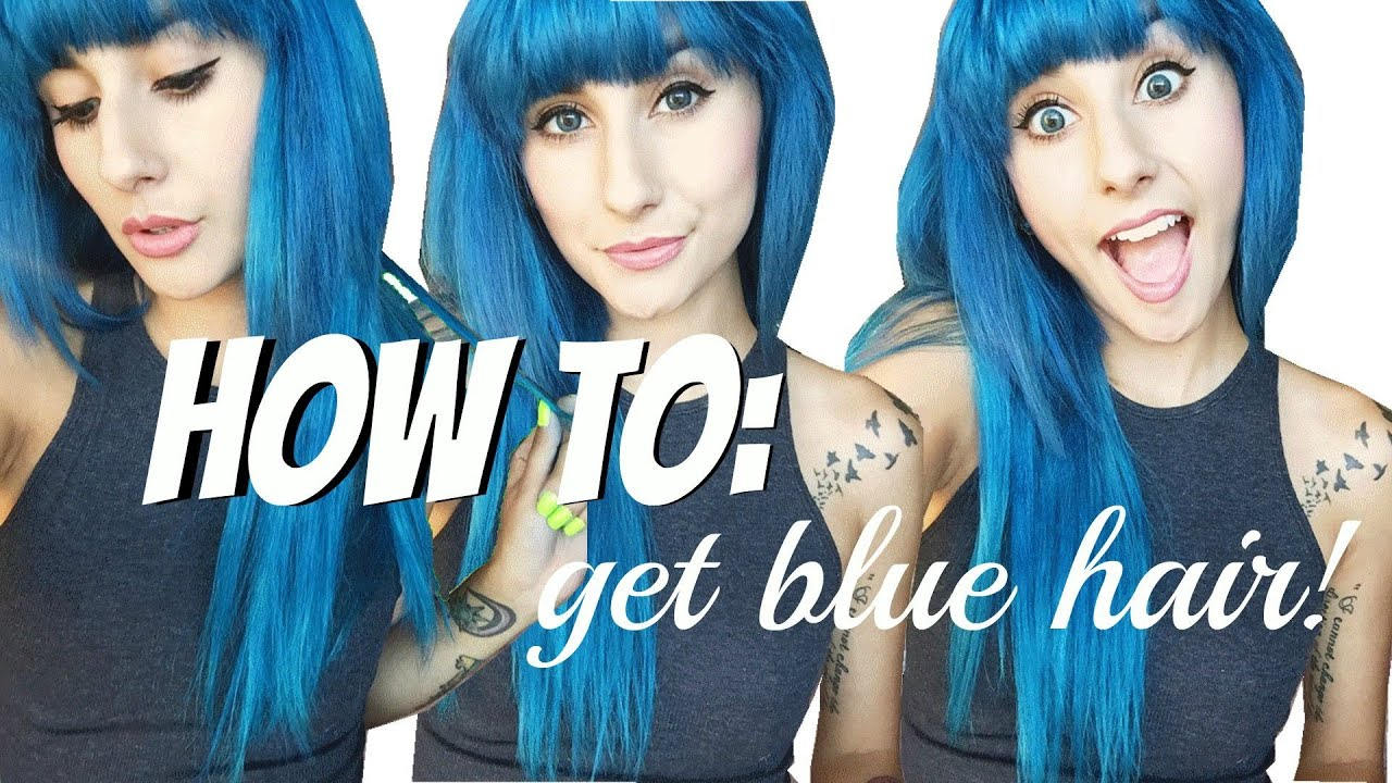 ion color brilliance brights review demo how to get blue hair youtube