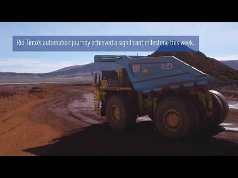 Autonomous haul trucks achieve one billion tonne milestone